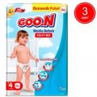 Goon Mutlu Bebek Külot Bez Ekonomik Paket 4 Beden 56 Adet x 3 Adet