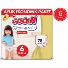 Goon Premium Soft Külot Bez 6 Beden 13 lü x 6 Adet