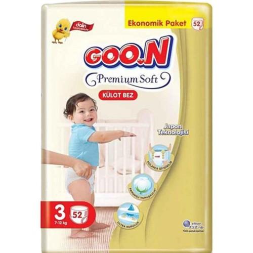 Goon Premium Soft Külot Bez Ekonomik Paket 3 Beden 52 Adet
