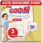 Goon Premium Soft Külot Bez Ekonomik Paket 3 Beden 52 Adet x 3 Adet