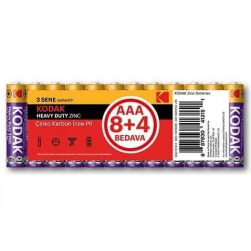 Kodak Çinko Karbon Blister İnce Pil 12 Adet