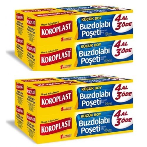 Koroplast Buzdolabı Poşeti 4 Al 3 Öde Küçük Boy 160 lı x 2 Adet
