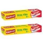 Koroplast Streç Film 100 mt x 2 Adet (Kesme Bıçağı Hediye)