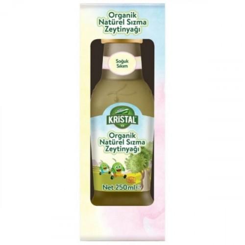 Kristal Organik Natürel Sızma Zeytinyağı 250 ml