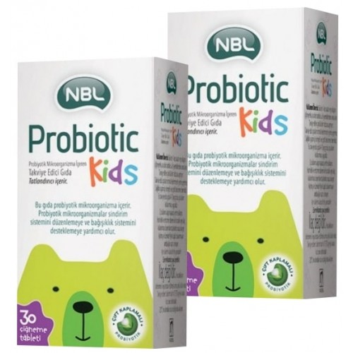 Nbl Probiotic Kids 30 Çiğneme Tableti x 2 Adet
