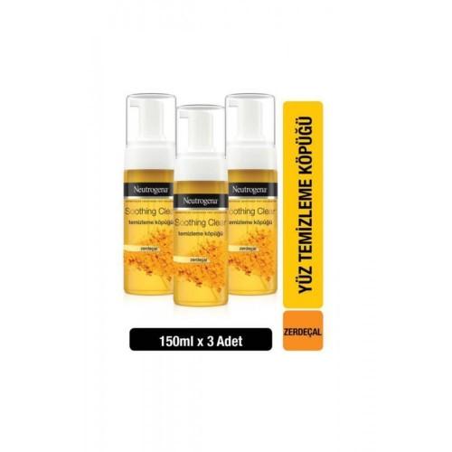 Neutrogena Soothing Clear Yüz Temizleme Köpüğü 150 ml x 3 Adet