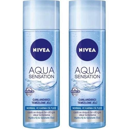 Nivea Aqua Sensation Normal/Karma Canlandırıcı Temizleme Jeli 200m 2li
