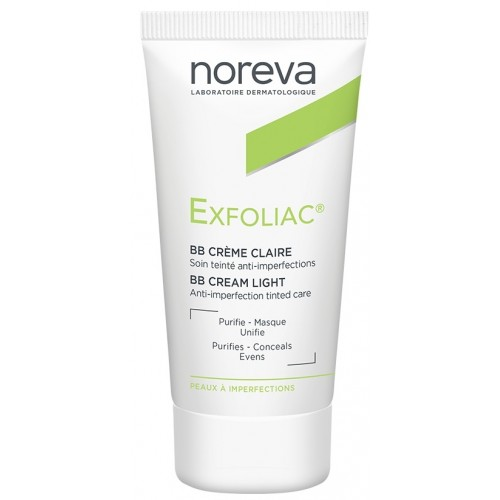 Noreva Exfoliac Tinted BB Cream Light Renkli Bakım Kremi 30 ml