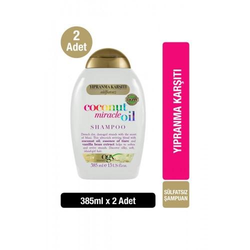 Ogx Coconut Miracle Oil Saç Kremi 385 ml x 2 Adet