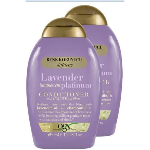 Ogx Sarı Saçlar Renk Koruyucu Lavender Platinum Bakım Kremi 385 ml 2li