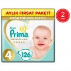 Prima Premium Care Aylık Fırsat Paketi 4 Beden 126 x 2 Adet