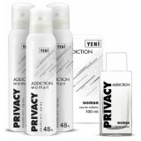 Privacy Addiction Edt Kadın Parfüm 100 ml + 3 lü Deodorant 150 ml