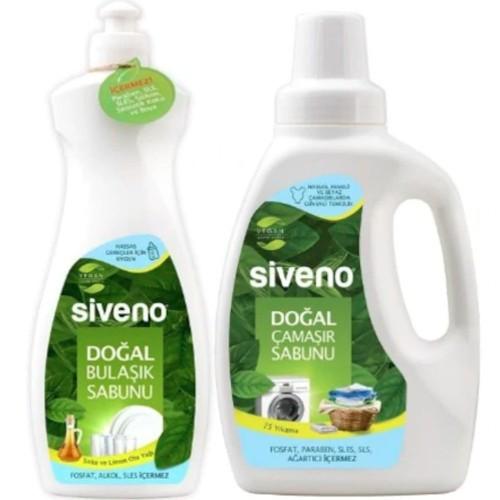 Siveno Doğal Çamaşır Sabunu 750 ml + Bulaşık Sabunu 500 ml