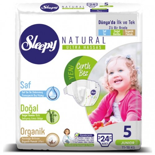 Sleepy Natural Bebek Bezi Junior 5 No 24 lü
