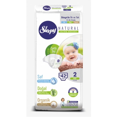 Sleepy Natural Bebek Bezi Mini 2 No 42 li