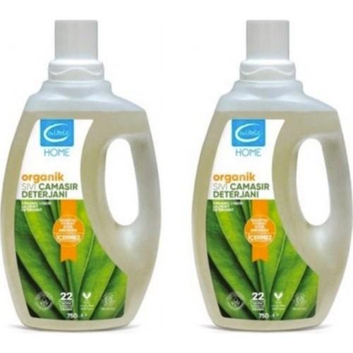 The LifeCo Home Organik Sıvı Çamaşır Deterjanı 750 ml x 2 Adet