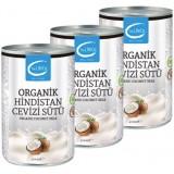 The LifeCo Organik Hindistan Cevizi Sütü 400 ml x 3 Adet