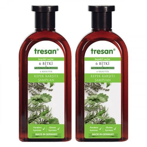 Tresan 6 Bitki Kepek Karşıtı Şampuan 300 ml 2 li