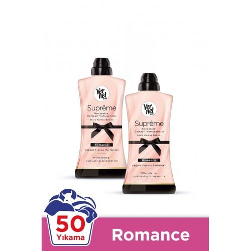 Vernel Max Supreme Konsantre Çamaşır Yumuşatıcısı Romance 1,2 lt x 2li
