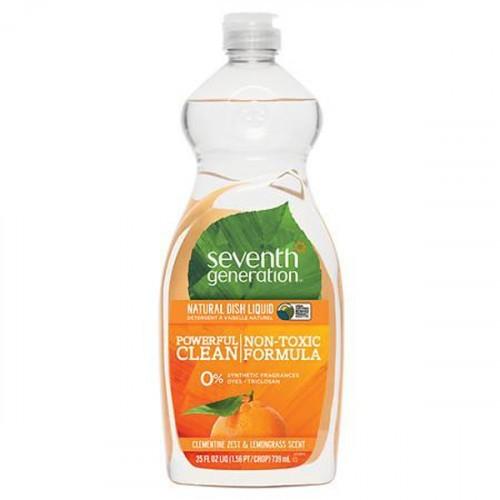 Seventh Generation Doğal Sıvı Bulaşık Deterjanı Limon otu & Mandalina Kabuğu 740 ml