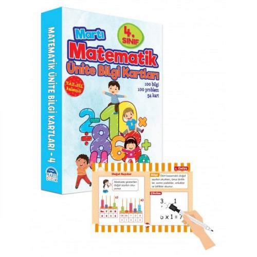 4. Sınıf Matematik Ünite Bilgi Kartları - Yaz Sil Kalemli - Emine Sevgi Özen