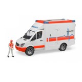 Bruder Mercedes Benz Sprinter Ambulans ve Ekibi 02536