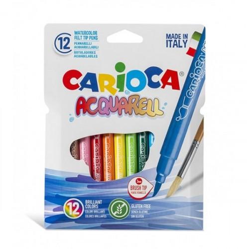 Carioca Acquarell Fırça Uçlu Keçeli Boya Kalemi 12'li 42747