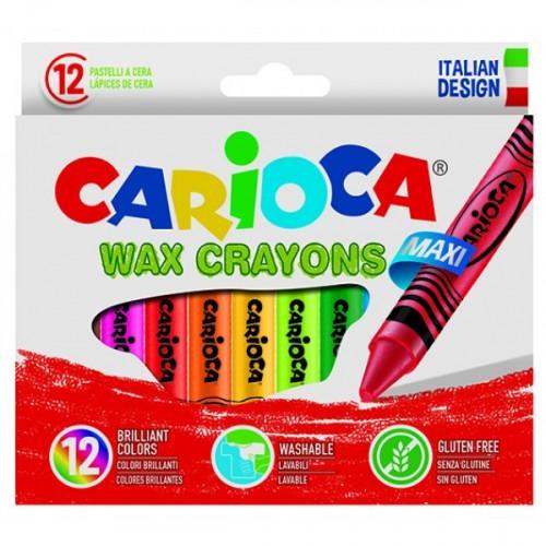 Carioca Jumbo Yıkanabilir Pastel Boya Kalemi 12'li 42369