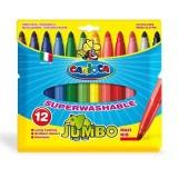 Carioca Jumbo Yıkanabilir Kalın Keçeli Boya Kalemi 12'li 40565