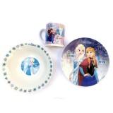 Disney Frozen Lisanslı Porselen Yemek Seti 3'lü 365508