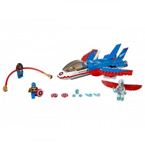 Lego Super Heroes Captain America Jet Pursuit 76076