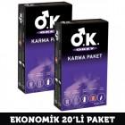 Okey Karma Paket Prezervatif 10 lu x 2 Adet