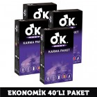 Okey Karma Paket Prezervatif 10 lu x 4 Adet