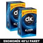 Okey Prezervatif Klasik 20li x 2 Adet