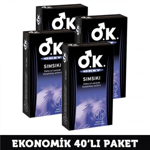 Okey Sımsıkı Prezervatif 10 lu x 4 Adet