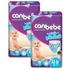 Canbebe Mayo Bebek Bezi Maxi 4 Beden 12 Adet (7-13 kg) x 2 Adet