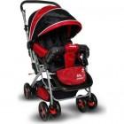 Aldeba 8028 Çift Yönlü Lüks Bebek Arabası (Kırmızı)