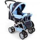 Aldeba 8028 Çift Yönlü Lüks Bebek Arabası (Mavi)