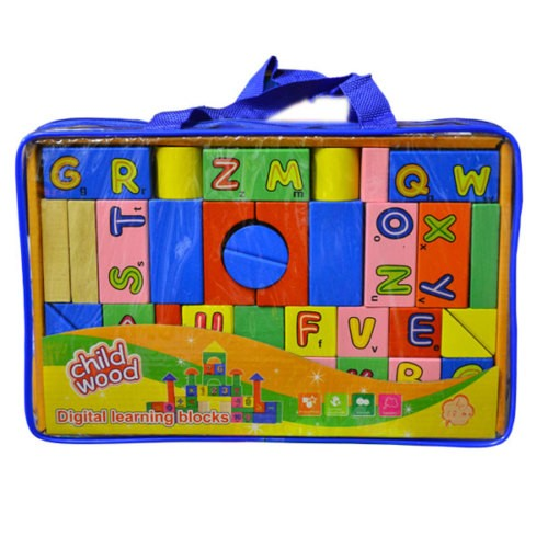 Bircan Oyuncak Çantalı Ahşap Blok Set 946TT-2522