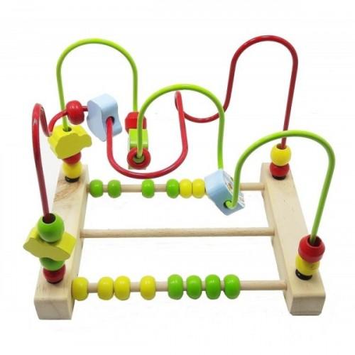 Bircan Oyuncak Child Wood Abaküslü Ahşap Gezdirme 947TT-2522