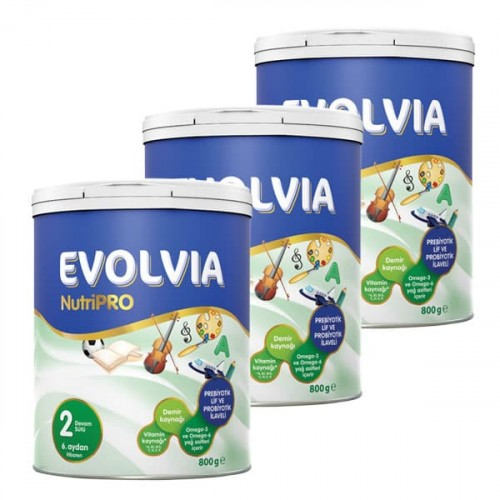 Evolvia 2 Devam Sütü Nutripro 800 gr x 3 Adet
