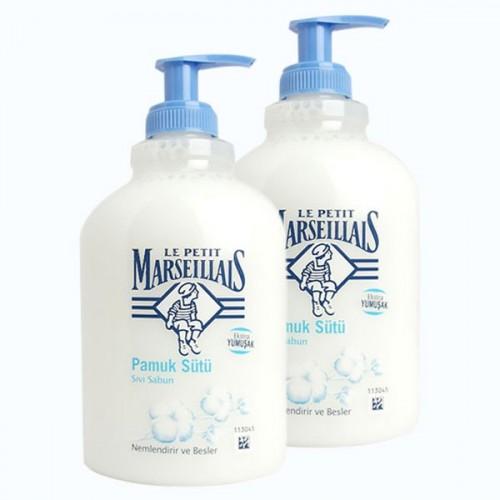 Le Petit Marseillais Sıvı Sabun Pamuk Sütü 500 ml x 2 Adet