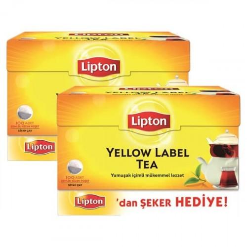 Lipton Demlik Poşet Çay 100 lü 320 gr (Şeker Hediye) x 2 Adet