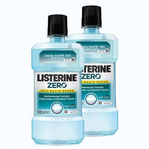 Listerine Ağız Bakım Suyu Zero 500 ml (Alkolsüz) x 2 Adet