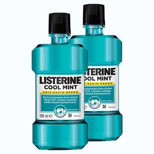 Listerine Ağız Bakım Suyu Cool Mint 500 ml x 2 Adet