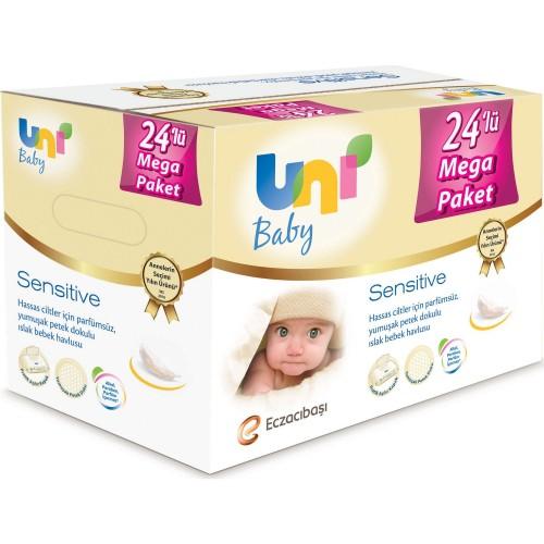 Uni Baby Islak Havlu Sensitive 56 lı 24 lü Paket
