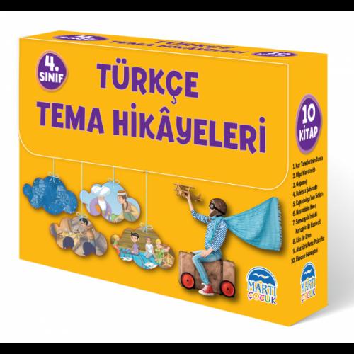 4. Sınıf Türkçe Tema Hikayeleri Seti (10 Kitap) - Nuran Turan