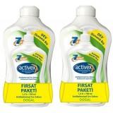 Activex Antibakteriyel Sabun Doğal 1500 ml + 700 ml x 2 Adet