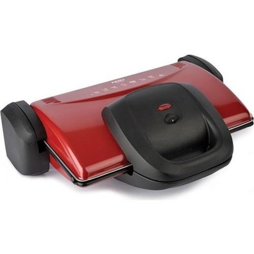 Aksu T34 Ken Grill Kırmızı 1800 W Tost Makinesi