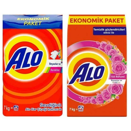 Alo Çamaşır Deterjanı Beyazlar ve Renkliler İçin + Gül Bahçesi 7 kg